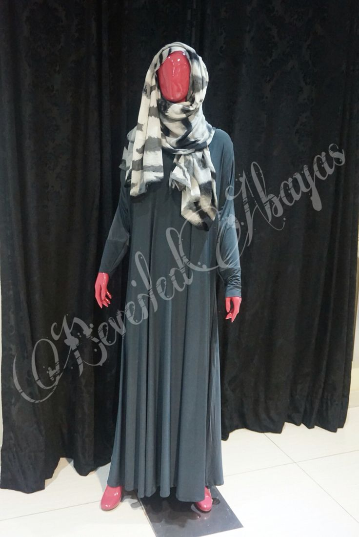 Casual abaya in #charcoal #grey  Team it up with a blazer and pumps for a #SmartLook