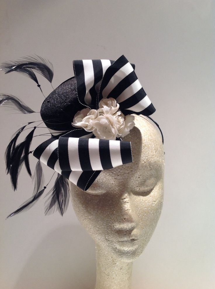 Black and white circus  hat for Cami with smaller bow for Kp party