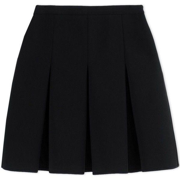 Alexander Wang Mini Skirt ($555) ❤ liked on Polyvore featuring skirts, mini skirts, black, short skirts, flared mini skirt, black high waisted skirt, long skirts and high waisted flare skirt