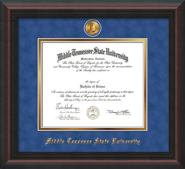 62 best Middle Tennessee State University - MTSU - Diploma Frames ...