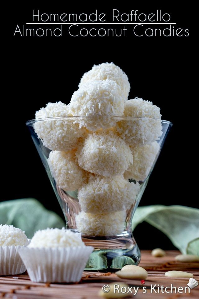 Homemade Raffaello Almond Coconut Candies | Roxy's Kitchen