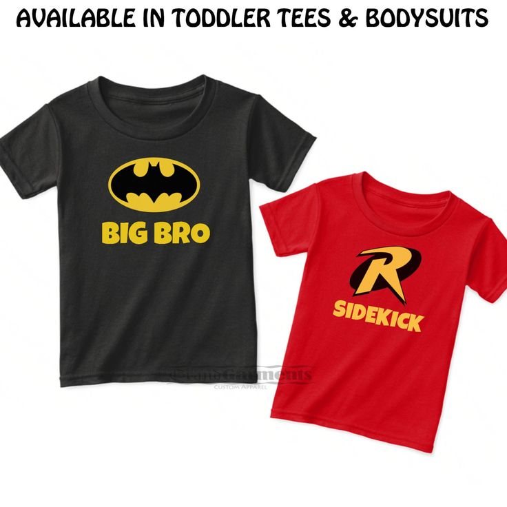 Superhero Baby Boy, Superhero Baby Clothes, Batman and Robin Shirts, Matching Sibling Outfits, Big Bro Little Bro Shirts, Matching Brothers by CustomGrandGarments on Etsy https://www.etsy.com/listing/245846585/superhero-baby-boy-superhero-baby