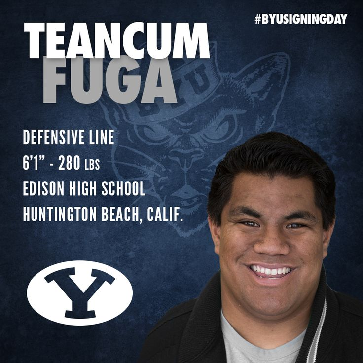 Teancum Tico Fuga 2014 BYU Football Recruiting Class