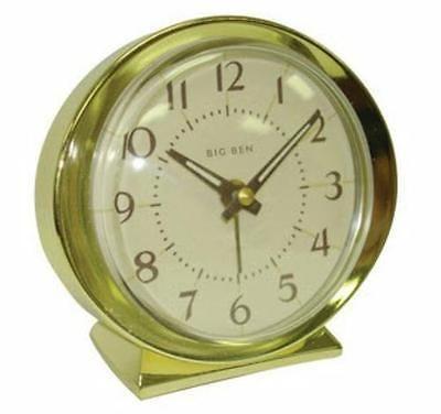Westclox Battery Operated Quartz Analog Metal Bezel Base Hands Gold Alarm Clock