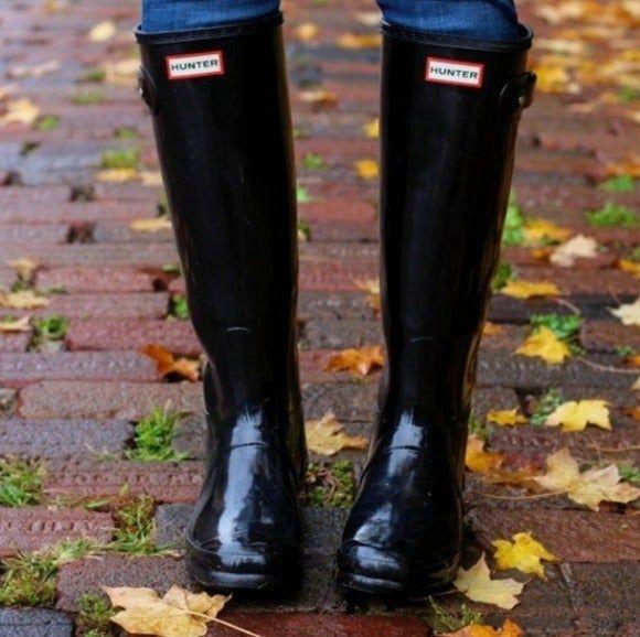 Black hunter boots, Hunter boots