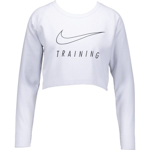 NIKE W VERSA CROP LS TOP ❤ liked on Polyvore featuring tops, crop top, nike, cut-out crop tops and nike top
