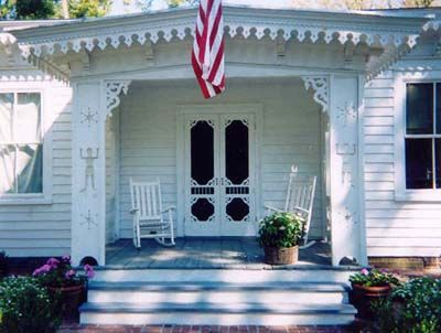 Veranda double screen & storm door. Browse more Victorian door deisgns which can be made into a double door like this one.