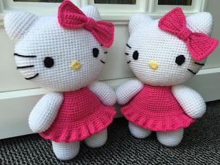 Häkelblog - Täglich neue Anleitungen: XXL-Hello Kitty - Häkelanleitung