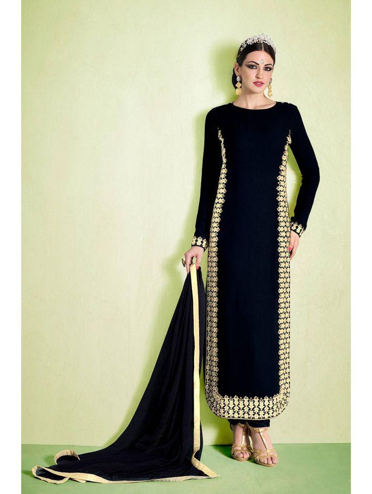 Original And Branded Nakkashi Nairra Designer Straight Salwar Kameez.  Shipping World Wide  #Nakkashi #Nairra #Black #Strightsalwarkameez    Visit- http://www.glamzon.com/shop/salwar-kameez/black-nakkashi-nairra-salwar-kameez/