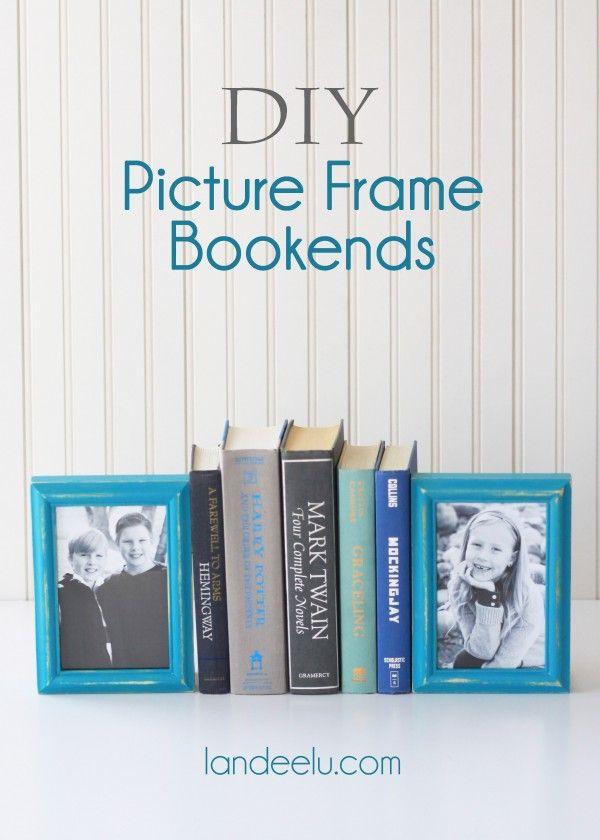 DIY Picture Frame Bookends | Landeelu via KristenDuke.com