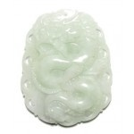A new Chinese jade dragon pendant for the year of the dragon.