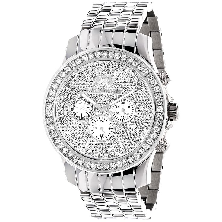 469 best images about wedding wear vests pocket luxurman watches mens diamond watch 3ct