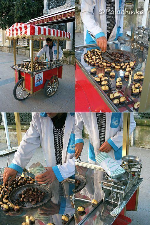 Chestnuts ... Great street treat in Istanbul, Turkey.