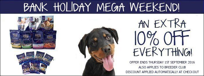 **Deal of the Week** Save an extra 10% on ALL orders www.fish4dogs.com Ends 01-09-16 #Fish4DogsOffers #NationalDogDay