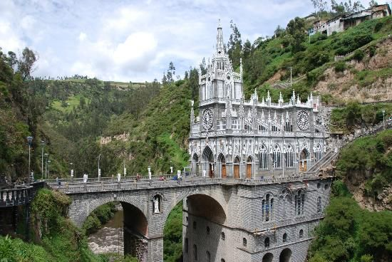 10 real places that look like they belong in fairy tales Las Lajas Sanctuary Pasto, Colombia
