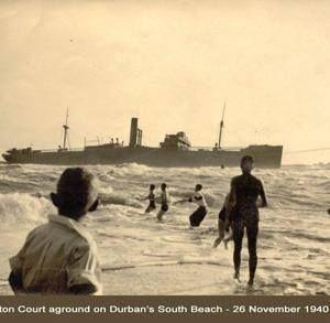 Another shot of the wreck off Addington Beach - Nov 1940