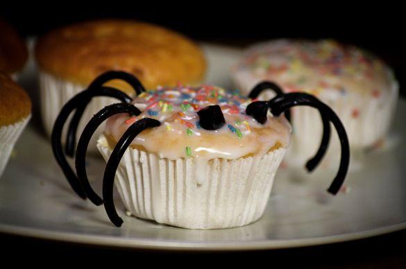 """Bei einer Grusel-Geburtstagsfeier sollte grusliges Essen nicht fehlen. Das passende Rezept für """"Spinnenmuffins"""" gibt's hier: http://magazin.sofatutor.com/schueler/2015/10/16/gruselige-halloween-rezepte-%E2%80%92-so-wirds-richtig-ekelig/"""