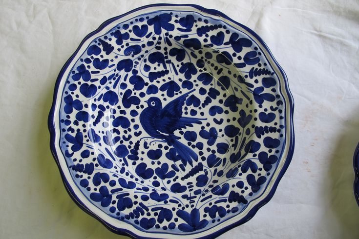 Arabesco Scalloped pasta bowl