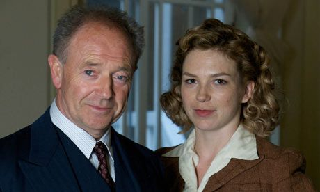 Michael Kitchen as Christopher Foyle and Honeysuckle Weeks as Sam in Foyle's War (2002 - 2010).
