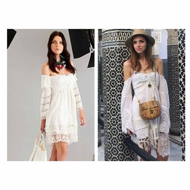 Sonia Fortuna White Dress Spring Summer 2015 Chiara Ferragni wear a similar dress