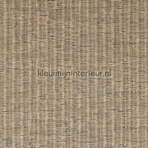 Fijn geweven rattan licht bruin behang 18330, Riviera Maison van BN Wallcoverings