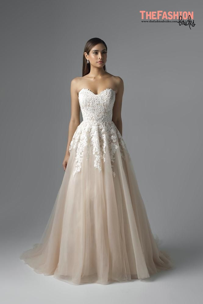 Beige Empire Flowing Wedding Dress