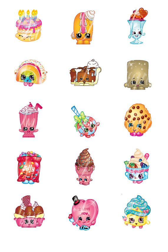 Bottle Cap Images 1 Inch 4 X 6 Shopkins Sweet Treats Buy 3 Get 1 Free Use for scrapbook bottle cap hair bows tags Instant Download