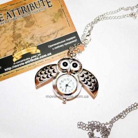 Кулон-часы с совой