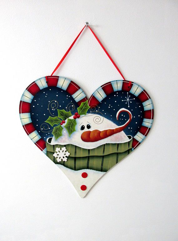 Winter Snowman Holly and Berries White Snowflakes Candy