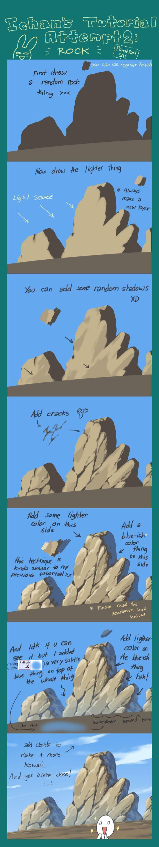 Tutorial Attempt: Rock by ichan-desu on deviantART via PinCG.com