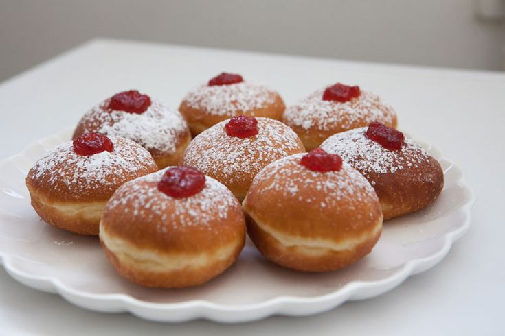 A super-easy recipe for delicious homemade jelly filled powdered donuts (Sufganiyot) for Hanukkah. (Plus homemade jam if you're up for it!)