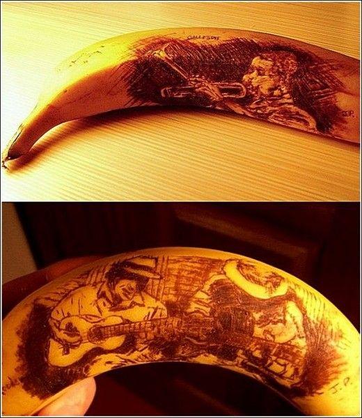 Банановая кожура как холст для художеств: рисунки Джана Джила Парка