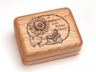 A Mother's Love Blooms Forever hinged box! #mothersday