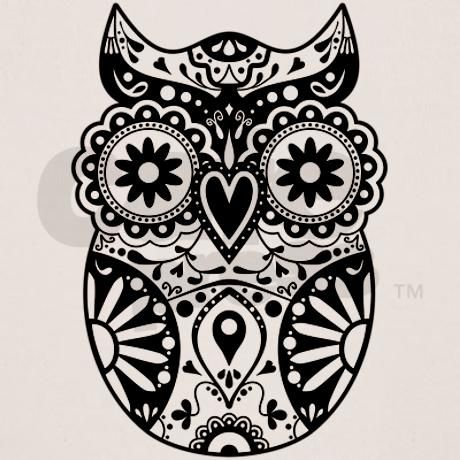 Sugar Skull Owl Tee on CafePress.com