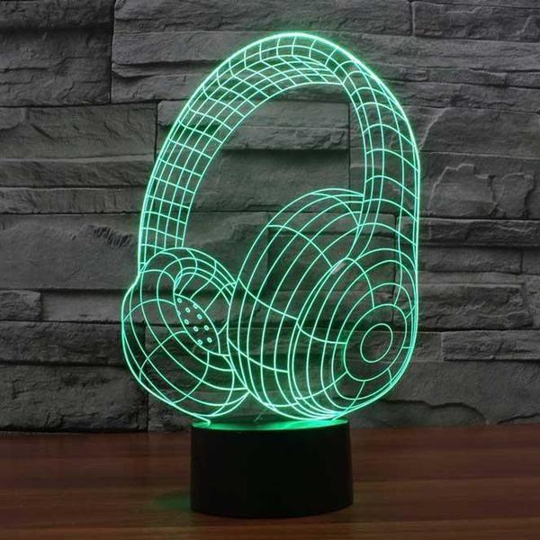 Headphones 3d Illusion Lamp Lampeez 3d Led Lamp 3d Illusions 3d Illusion Lamp