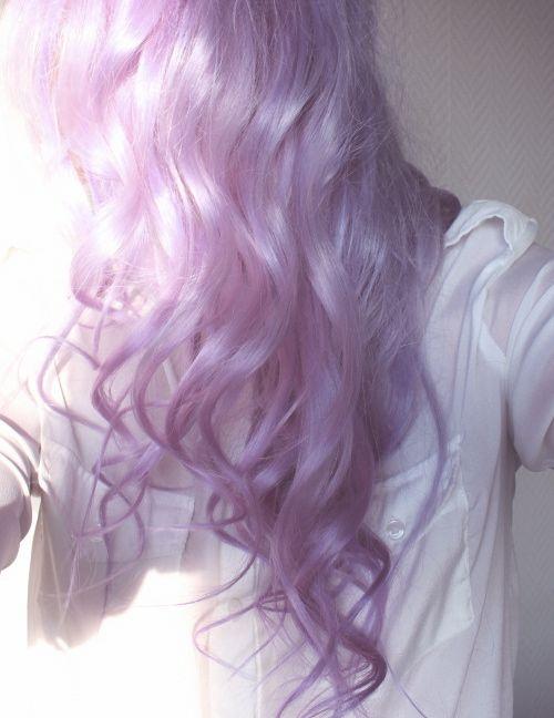 lilac hair is my new springtime love #lilachair #curlyhair