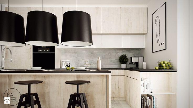 STRZESZEWSKIEGO - Średnia kuchnia, styl nowoczesny - zdjęcie od KAEEL.GROUP | ARCHITEKCI