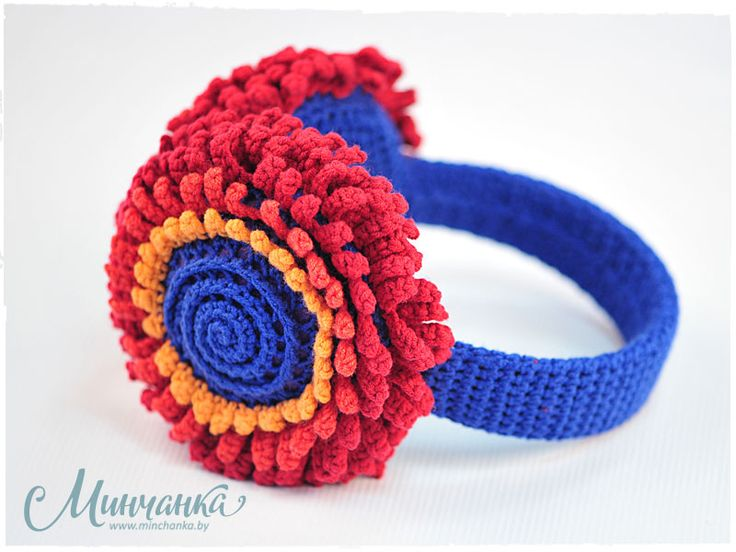 """Knitted Headphone """"Flowers"""""""