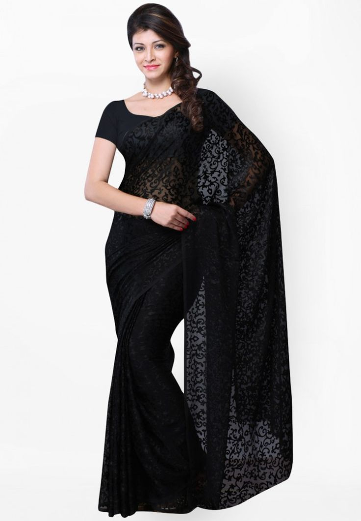 Black Printed Saree at $97.50 (35% OFF)