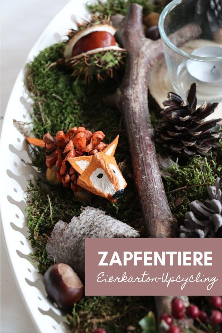 Herbst-DIY: Zapfen-Tiere basteln für den Jahreszeitentisch