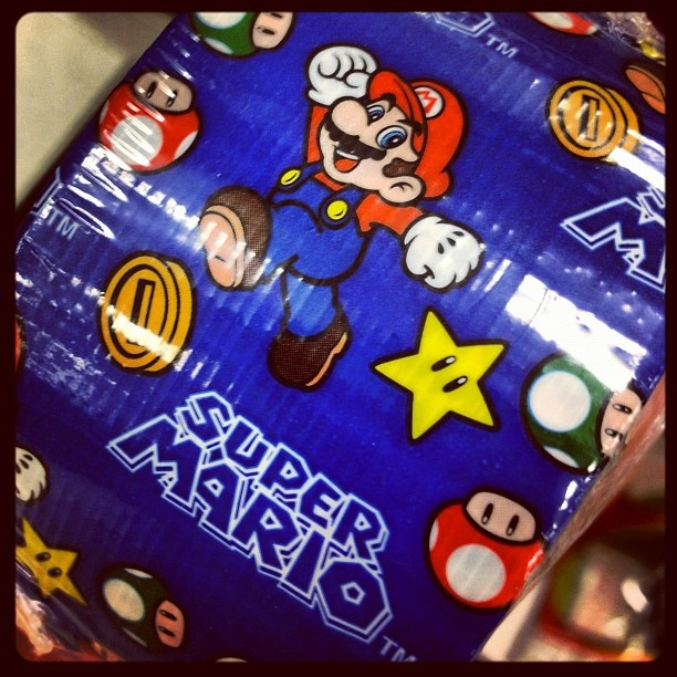 Fun duct tape that I spotted while school supply shopping last weekend … #supermario