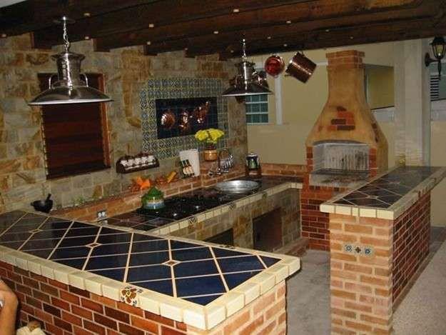 Cómo decorar la cocina de una casa rural - Fuente: Pinterest