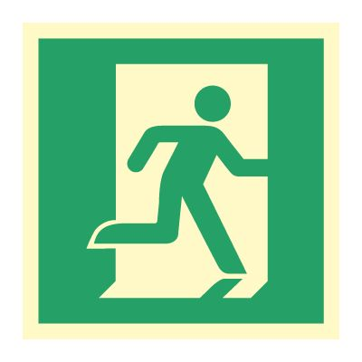 Nødutgang piktogram høyre - Bestill Nødskilt online