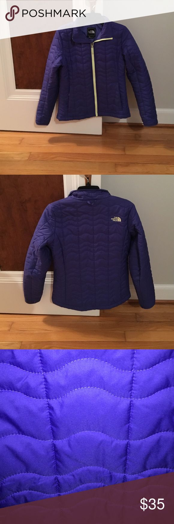 The North Face Ladies Jacket Good condition. Blue puffer with highlighter yellow detailed. Zip up pockets. All zippers work. Very warm. The North Face Jackets & Coats Puffers