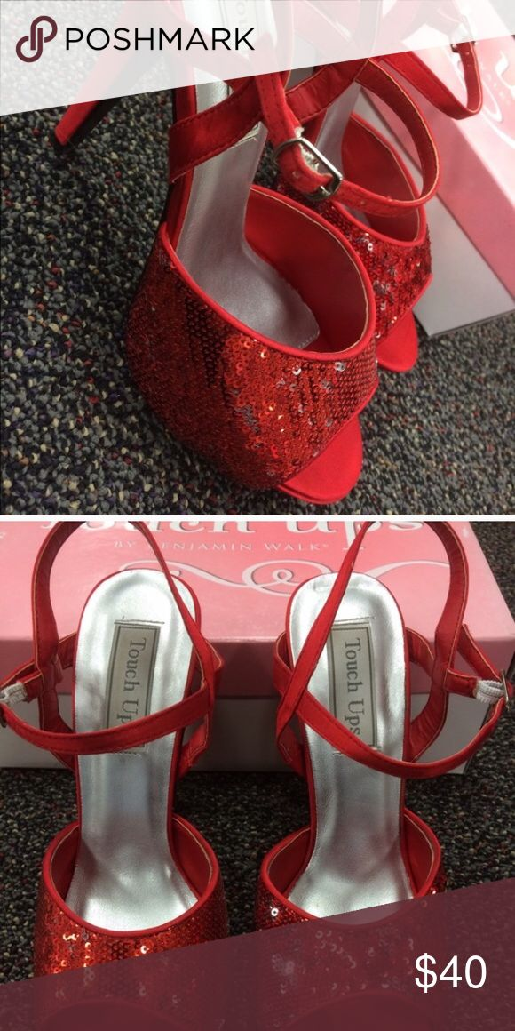 Red Ruby Slippers Worn twice! Perfect for your Dorothy costume or any night out Shoes Heels
