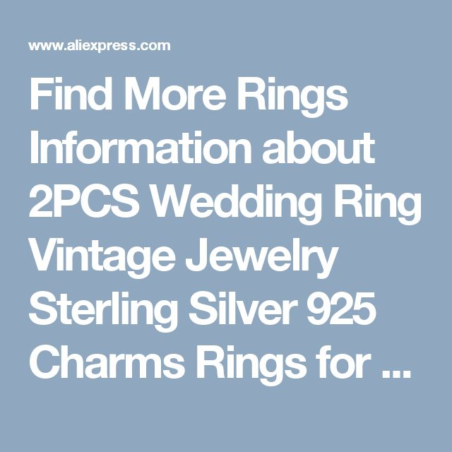 Find More Rings Information about 2PCS Wedding Ring Vintage Jewelry Sterling Silver 925 Charms Rings for Couples Women/Men Prong Setting Cubic Zirconia Aneis J032,High Quality ring chocolate,China ring bind Suppliers, Cheap ring dice from Uloveido Official Store on Aliexpress.com