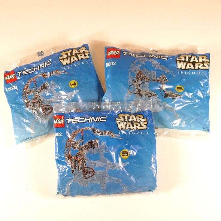 Lego Technic Star Wars Destroyer Droid Episode 1 BAGS 3 4 5 ONLY Sealed 8002 #Lego
