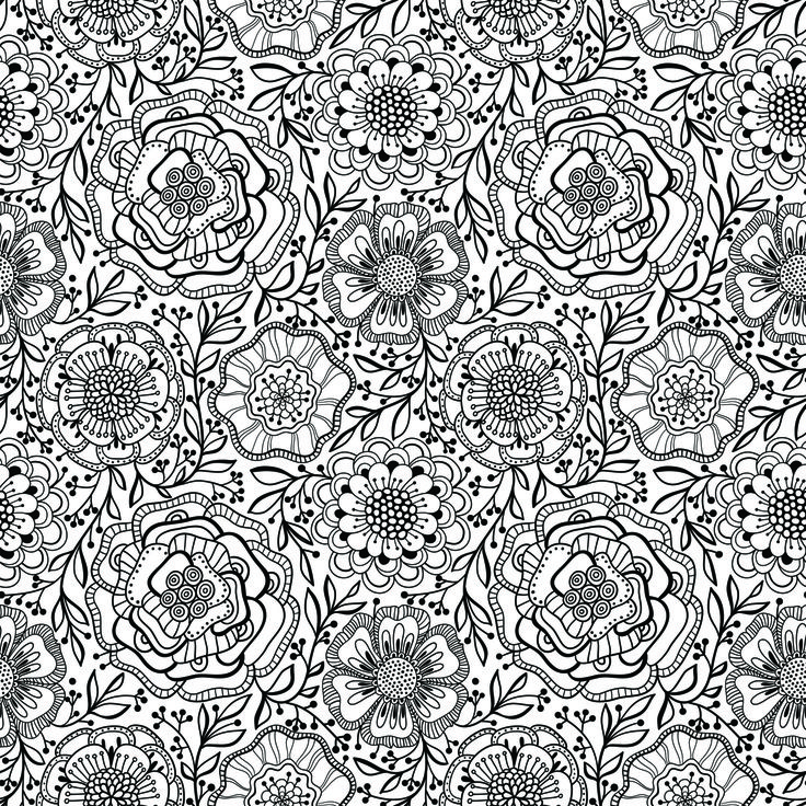 from flower coloring book vol - Coloring Book Flowers
