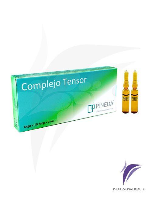 Complejo Tensor Caja x10 ampolletas de 2ml: El Complejo Tensor es un revitalizador de los tejidos que actúa como reafirmante y proporciona un efecto lifting, fortaleciendo la síntesis de colágeno y elastina.
