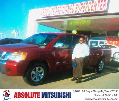 Happy Anniversary to Roosevelt Armstrong on your 2008 #Nissan #Titan from Charity Jones  and everyone at Absolute Mitsubishi! #Anniversary